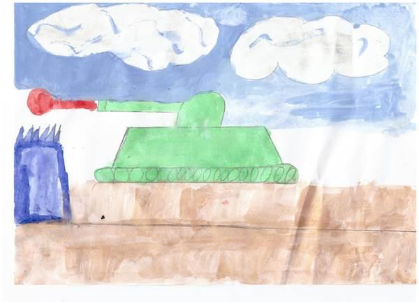 детские рисунки о войне (13)