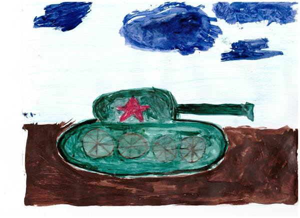 детские рисунки о войне (16)