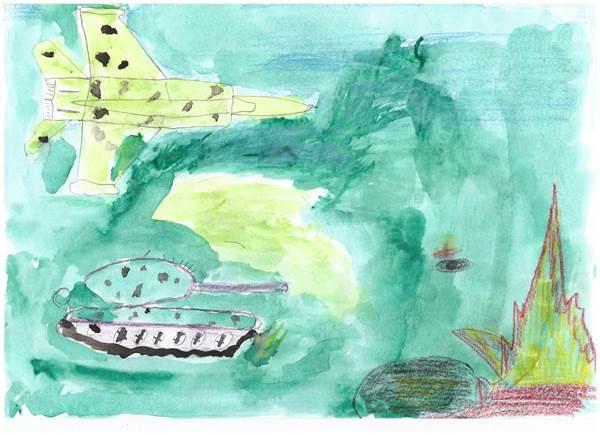 детские рисунки о войне (8)