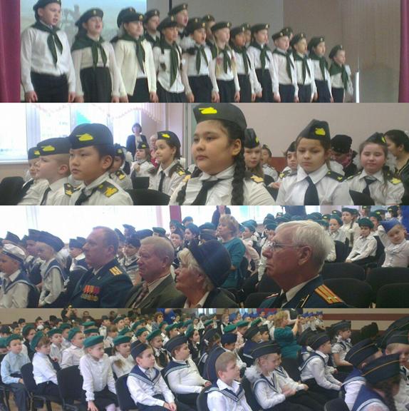 Парад юных войск
