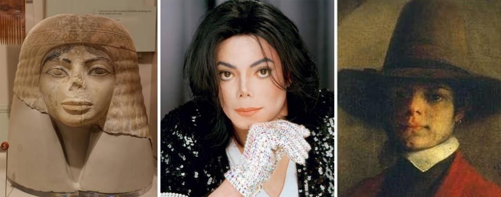 А это, пожалуй, самые забавные совпадения. Потому что Майкл Джэксон – сделал множество операций, а вот его исторические двойники о них не знали.